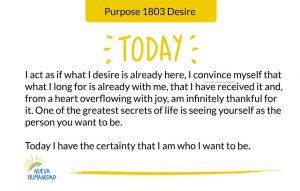 Purpose 1803 Desire