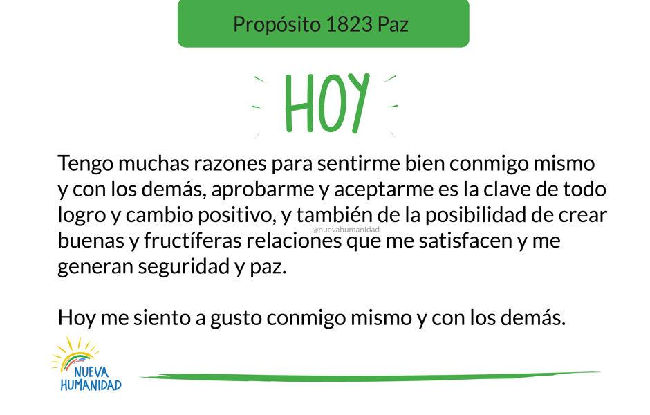 Propósito 1823 Paz