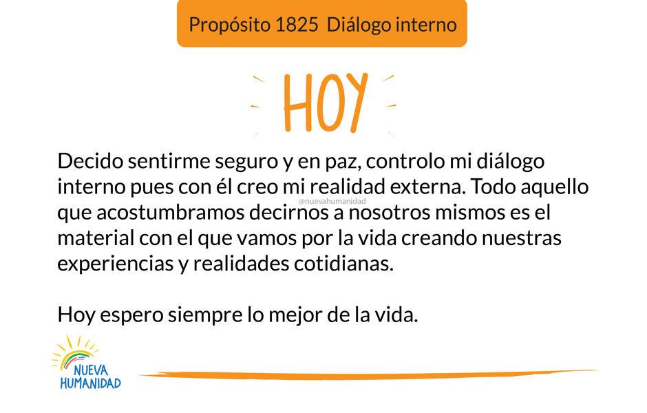 Propósito 1825 Diálogo interno
