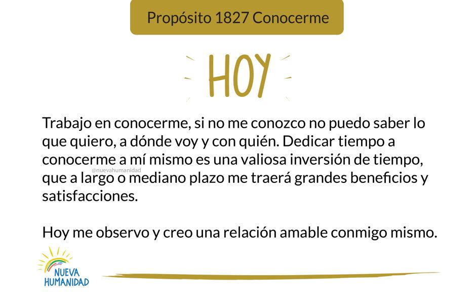 Propósito 1827 Conocerme