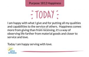 Today I am happy serving with love.