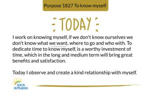 Today I observe and create a kind relationship with myself