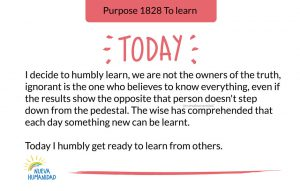 Today I humbly get ready to learn from others.