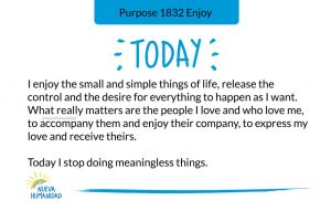 Today I stop doing meaningless things.