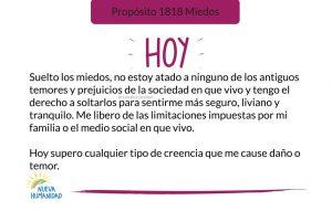 Propósito 1818 Miedos