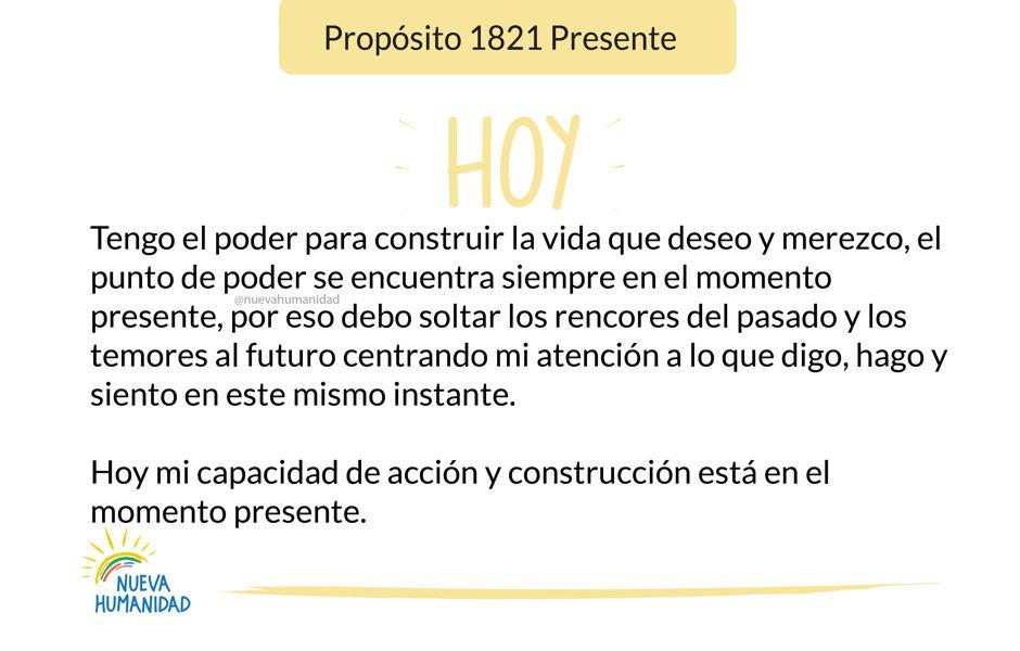 Propósito 1821 Presente