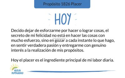 Propósito 1826 Placer