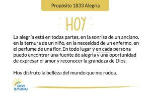 Propósito 1833 Alegría