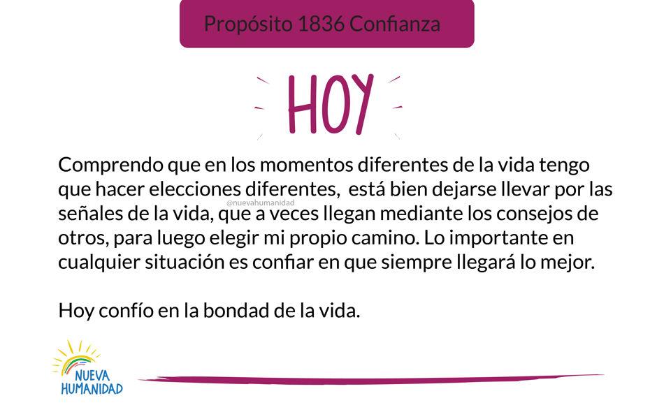 Propósito 1836 Confianza