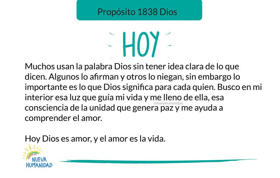 Propósito 1838 Dios