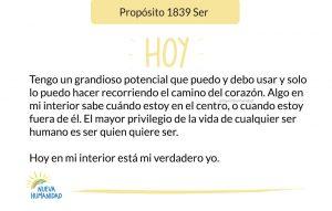 Propósito 1839 Ser