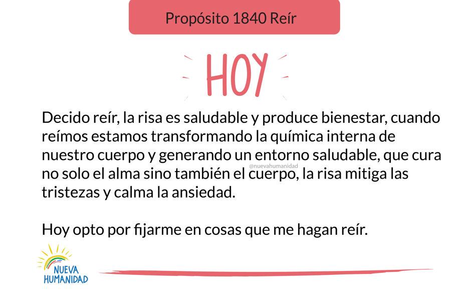 Propósito 1840 Reír