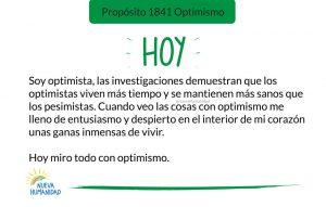 Propósito 1841 Optimismo