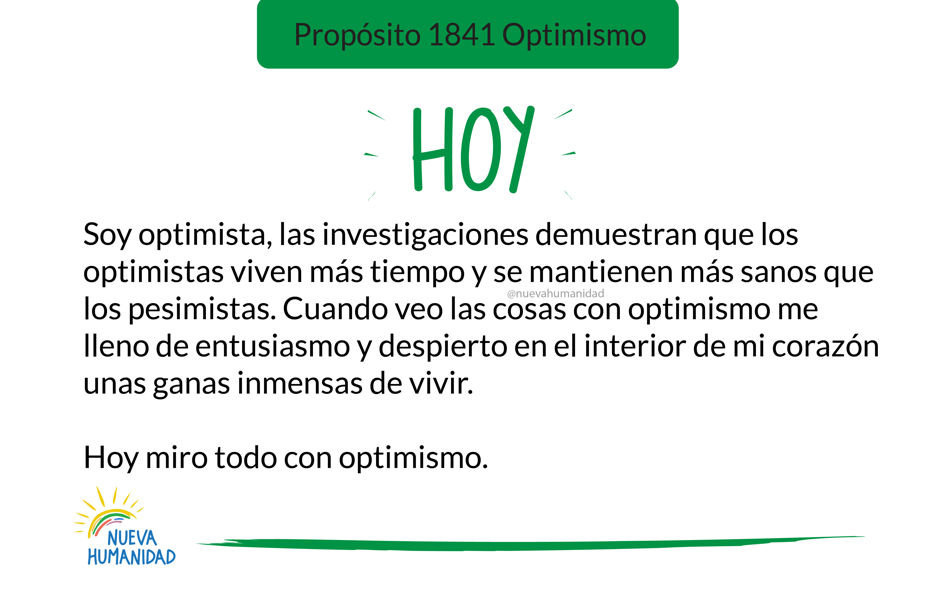 Propósito 1841 Optimismo