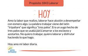 Propósito 1843 Laborar