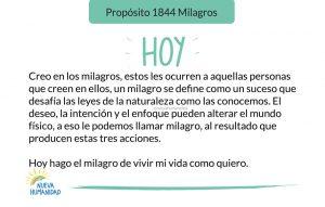 Propósito 1844 Milagros