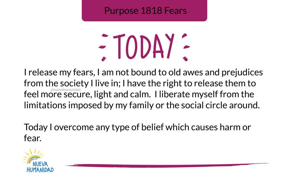 Purpose 1818 Fears
