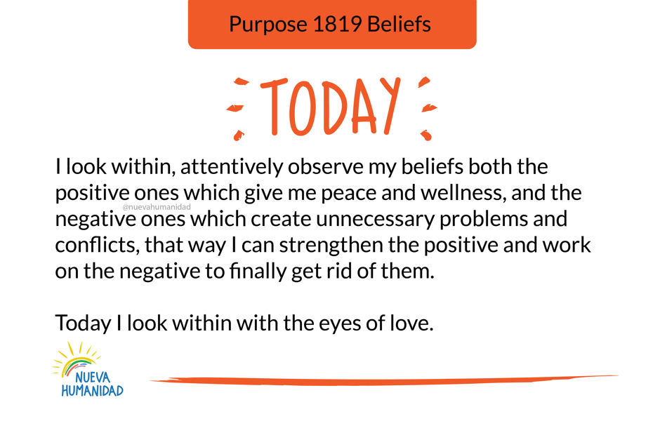 Purpose 1819 Beliefs
