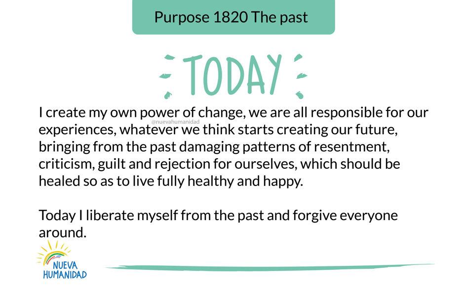 Purpose 1820 The past