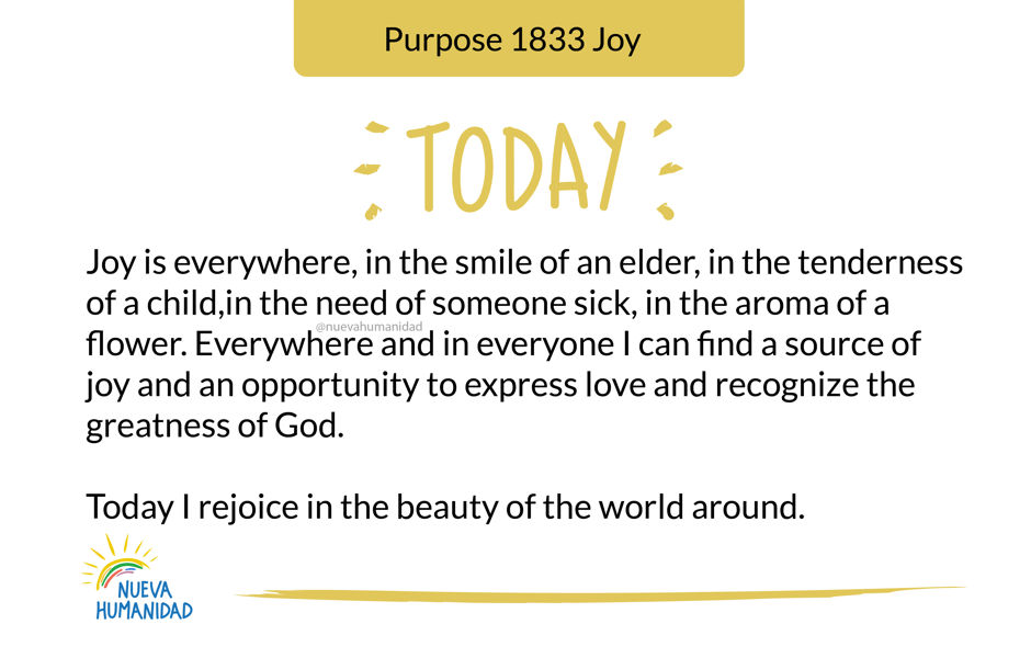 Purpose 1833 Joy