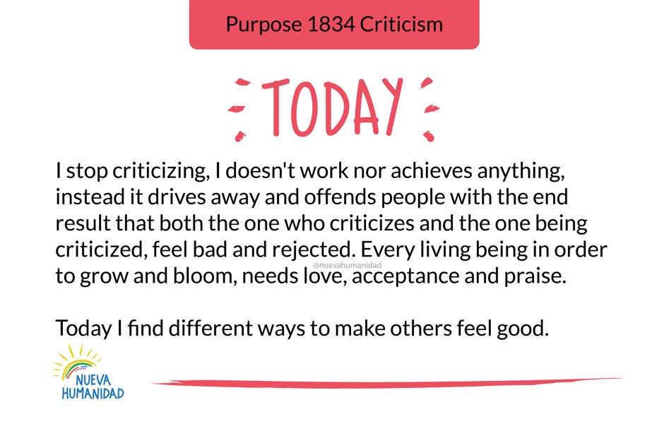 Purpose 1834 Criticism