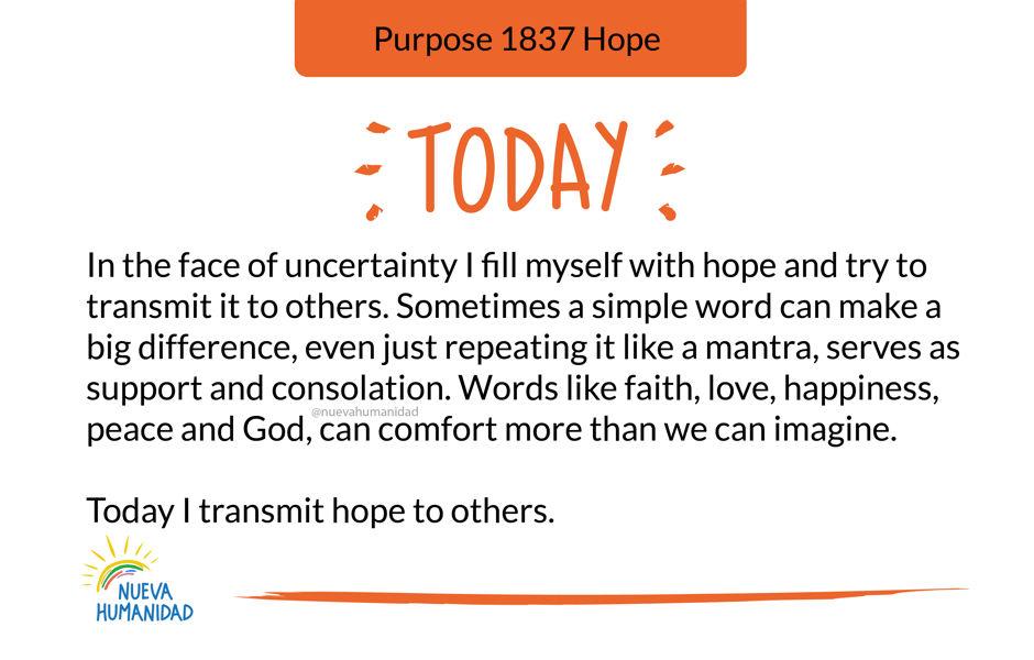 Purpose 1837 Hope