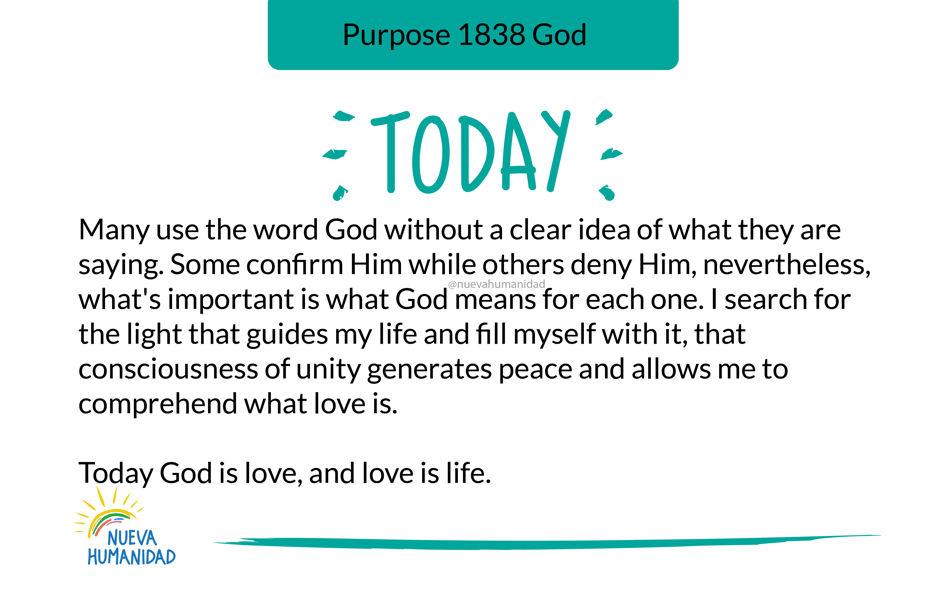 Purpose 1838 God