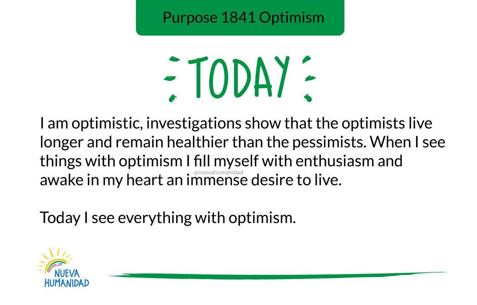 Purpose 1841 Optimism
