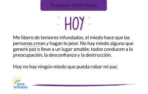 Propósito 1848 Miedo