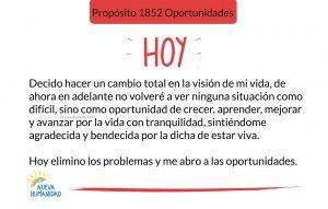 Propósito 1852 Oportunidades