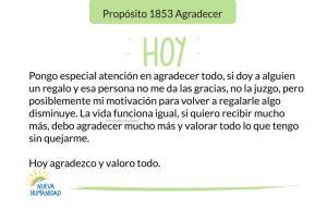 Propósito 1853 Agradecer