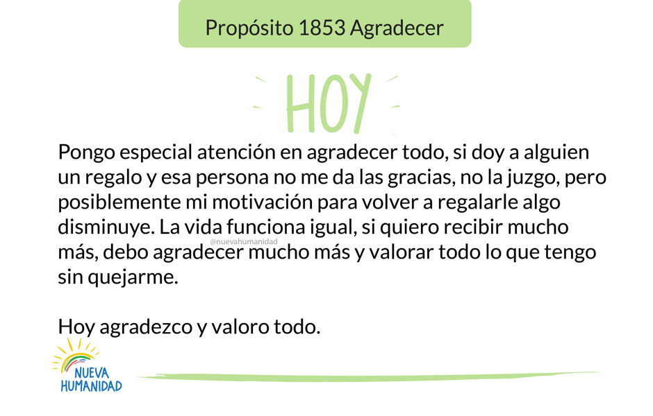 Propósito 1853 Agradecer