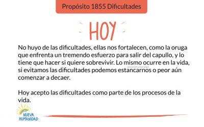 Propósito 1855 Dificultades