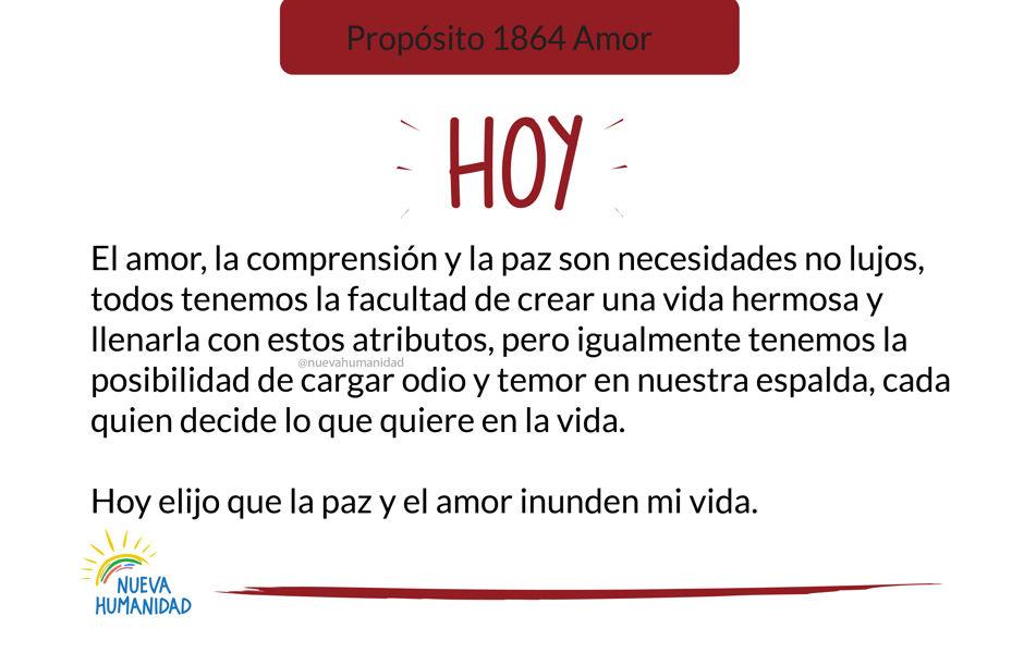 Propósito 1864 Amor