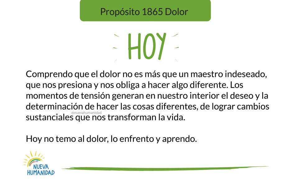 Propósito 1865 Dolor
