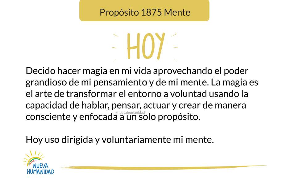 Propósito 1875 Mente