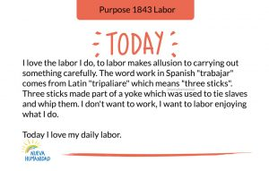 Purpose 1843 Labor