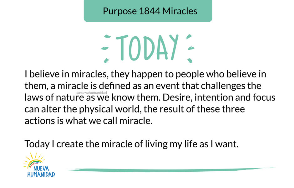 Purpose 1844 Miracles