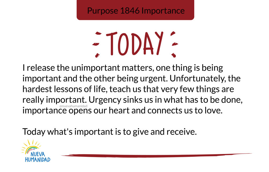 Purpose 1846 Importance