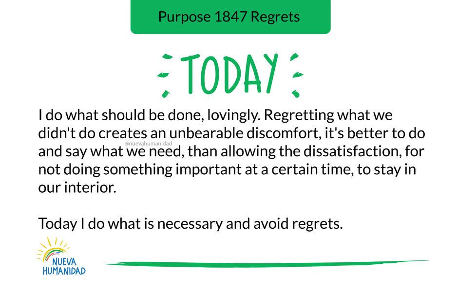 Purpose 1847 Regrets
