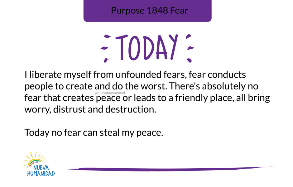 Purpose 1848 Fear