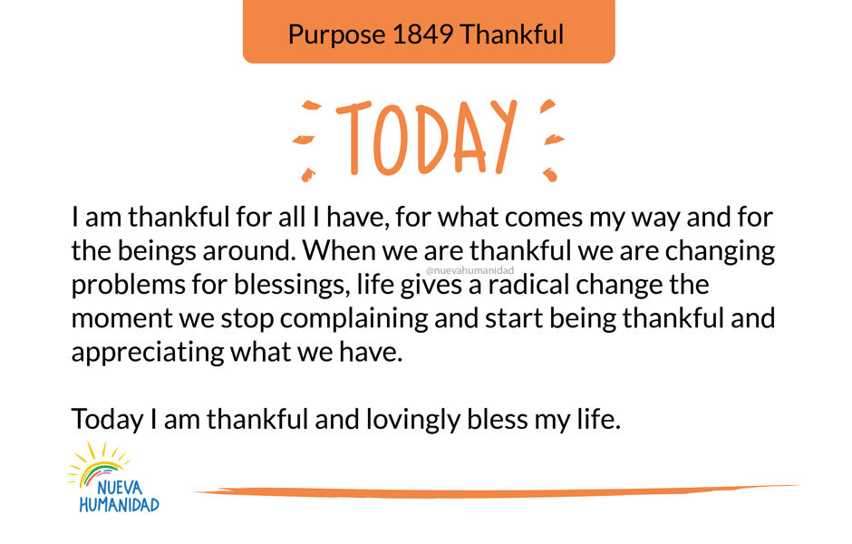 Purpose 1849 Thankful