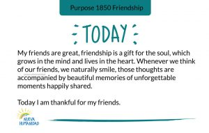 Purpose 1850 Friendship