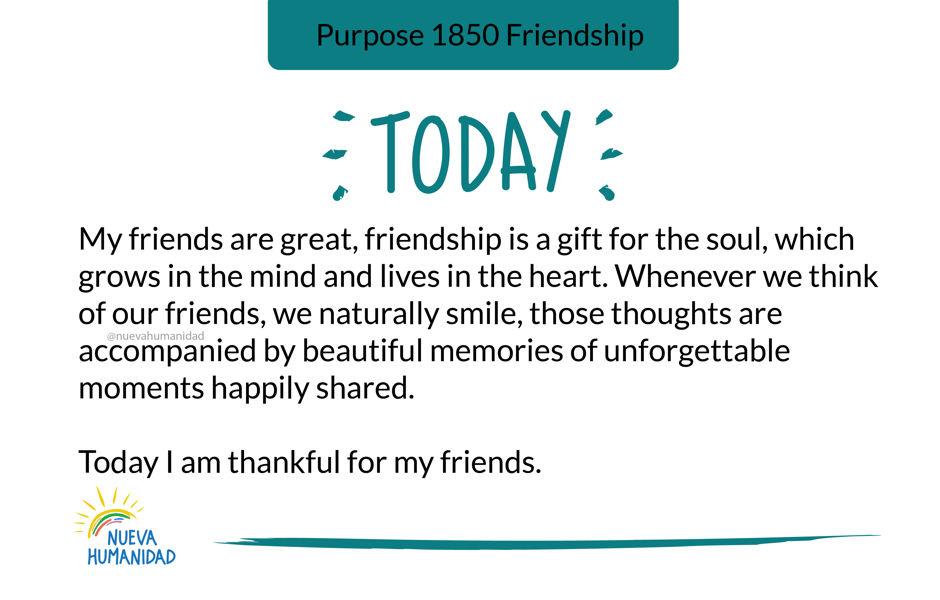 Purpose 1850 Friendship