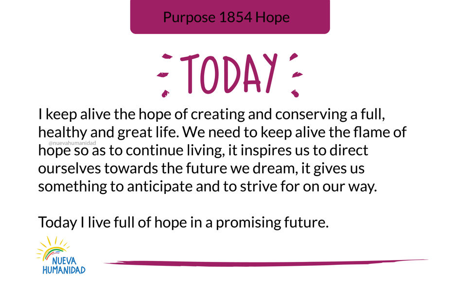 Purpose 1854 Hope