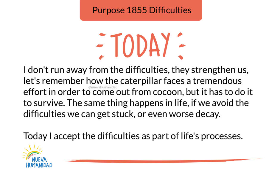 Purpose 1855 Difficulties