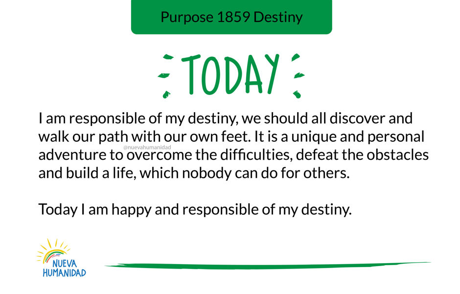Purpose 1859 Destiny