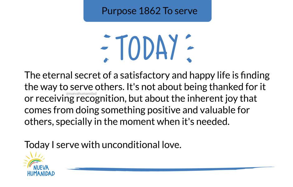 Purpose 1862 To serve