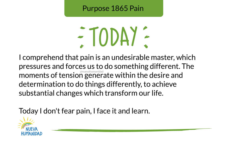 Purpose 1865 Pain