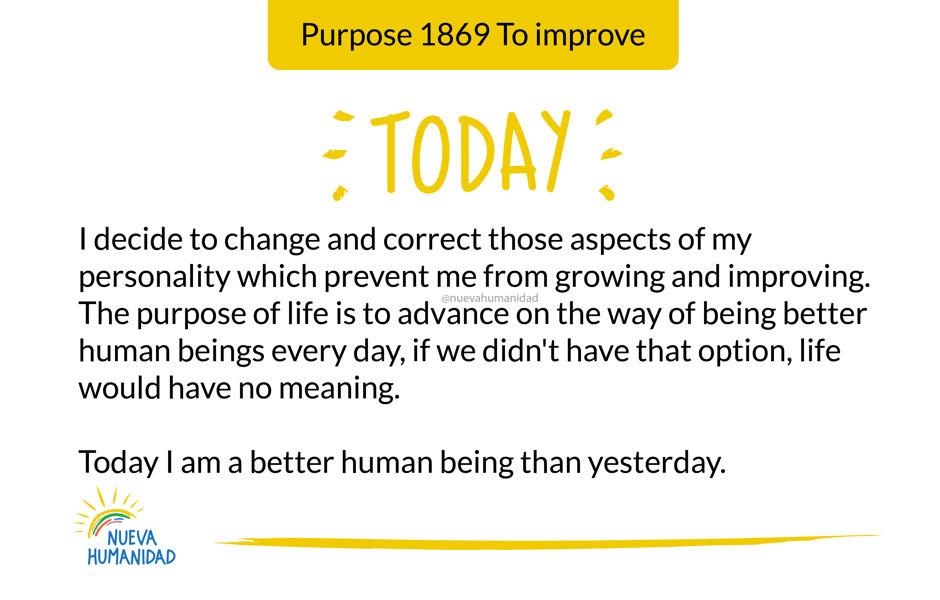 Purpose 1869 To improve